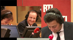 Laurent Gerra et François Hollande