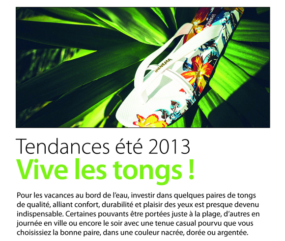 Vive les tongs